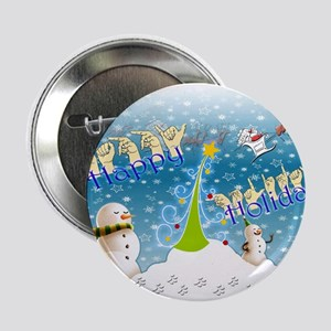 "Holiday, happy 2.25"" Button"